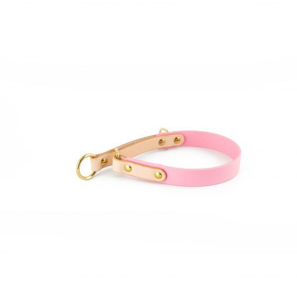 Zugstop Halsband rosa Biothane
