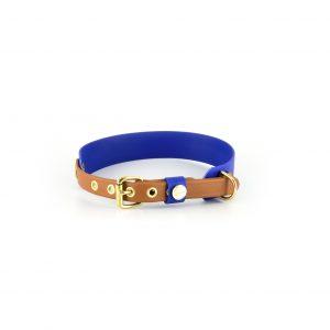 Biothane Halsband vegan blau