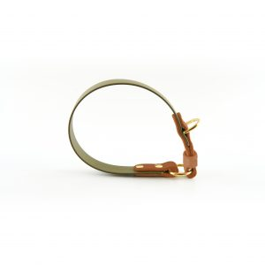 Biothane Halsband oliv Seitenansicht